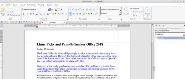 Экранный снимок TextMaker