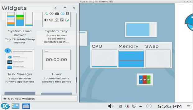 Виджеты версии KDE от SolydXK.
