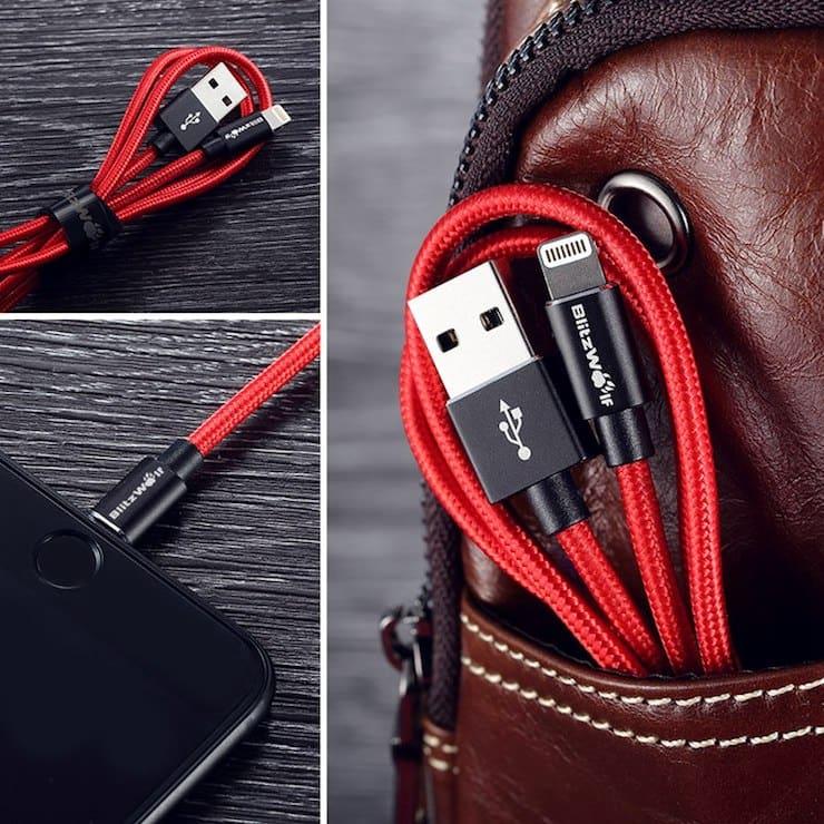 Blitzwolf кабель для iPhone