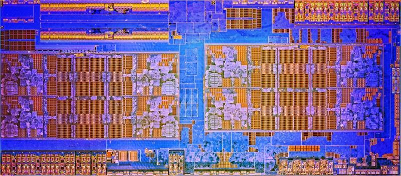 Полупроводниковый кристалл AMD Ryzen 7