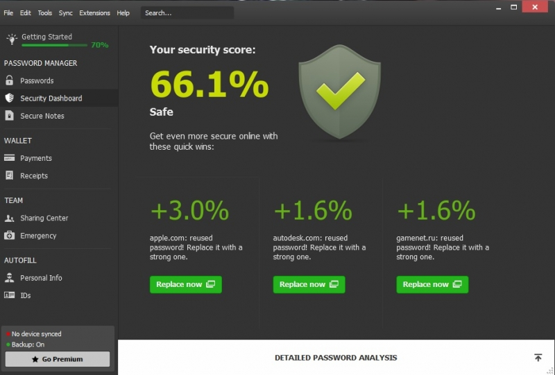 Раздел Security Dashboard