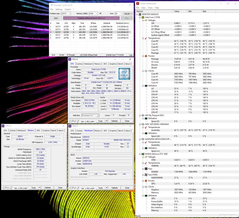 Нагрев компонентов Lenovo IdeaCentre AIO Y910-27ISH