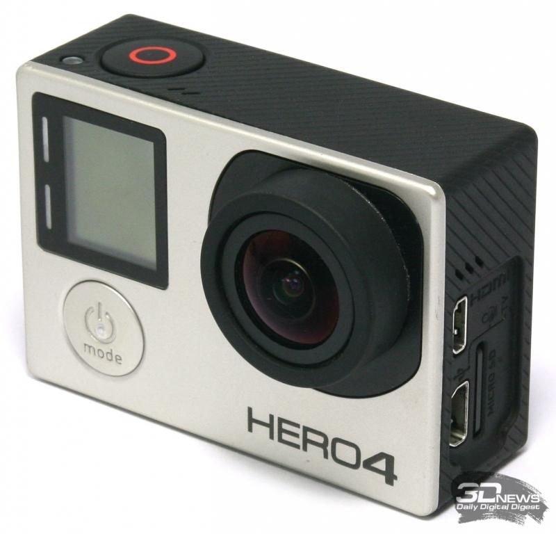 Внешний вид экшен-камеры GoPro Hero 4 Silver
