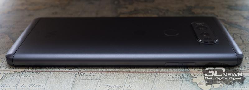 LG V20, вид слева