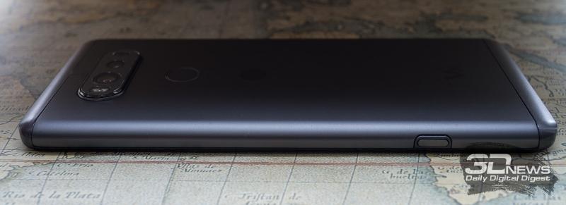 LG V20, вид справа
