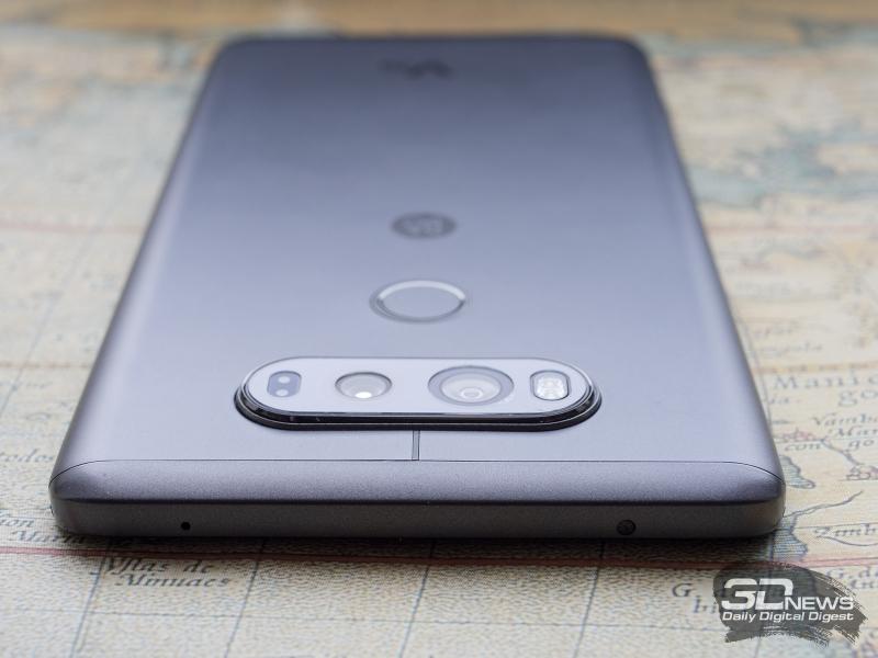 LG V20, вид сверху