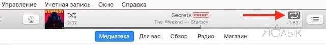 Как включить трек или альбом по кругу в iTunes на Mac или Windows