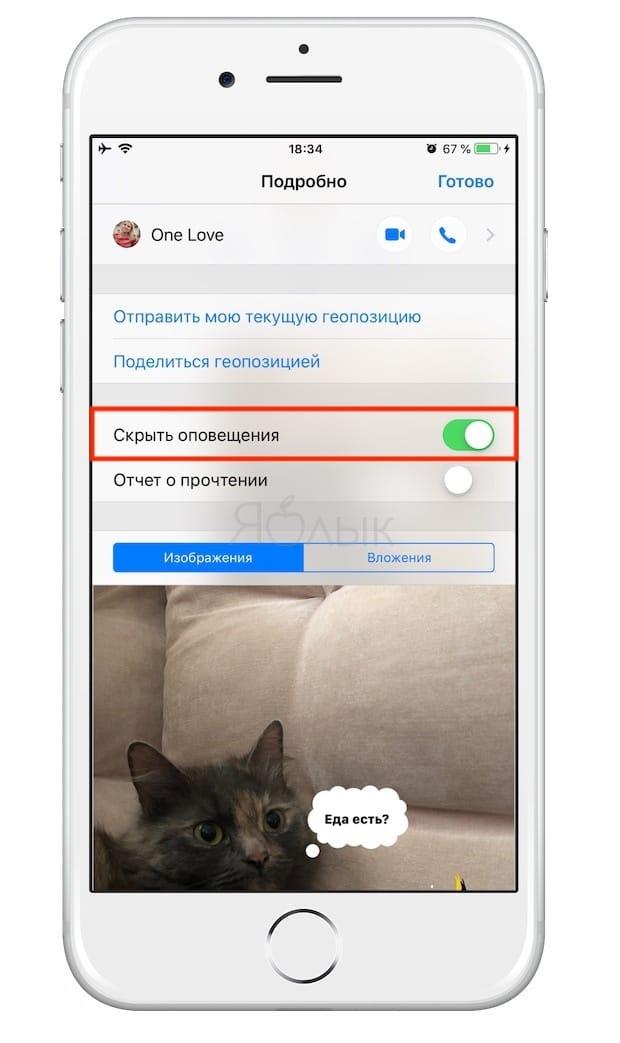 Как отключить уведомления в выборочных чатах iMessage или СМС (Сообщения) на iPhone и iPad