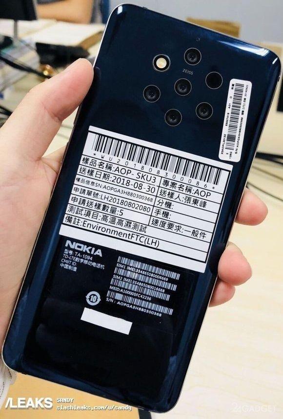 Смартфон Nokia с 5 камерами засветился на фотографиях (2 фото)