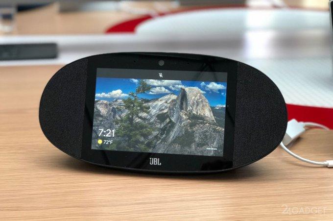 JBL Link View: смарт-динамик с сенсорным экраном и помощником от Google (3 фото + видео)