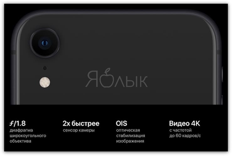 Основная камера iPhone XR