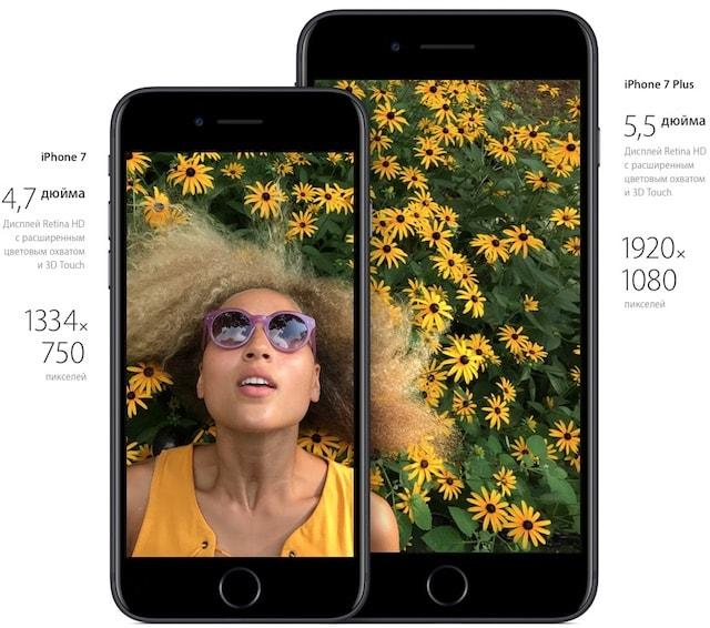 Дисплей iPhone 7 и iPhone 7 Plus
