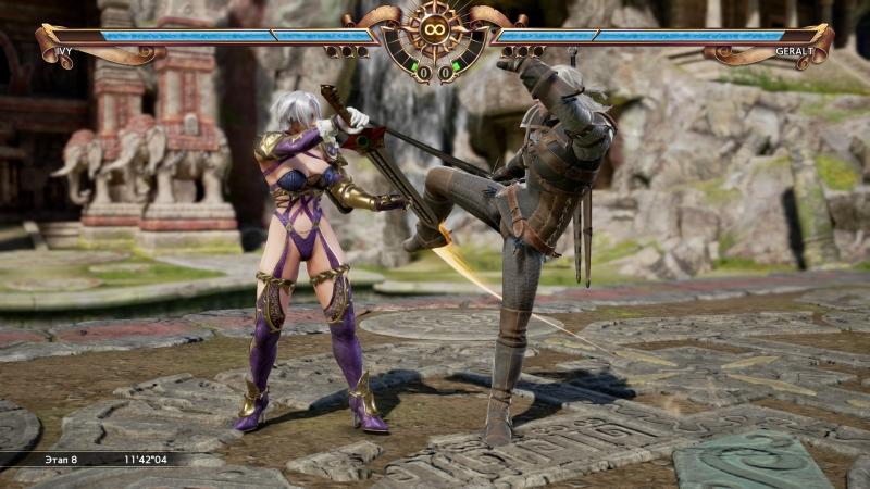 Геральт отлично вписался в Soulcalibur VI и может наподдать персонажам-ветеранам
