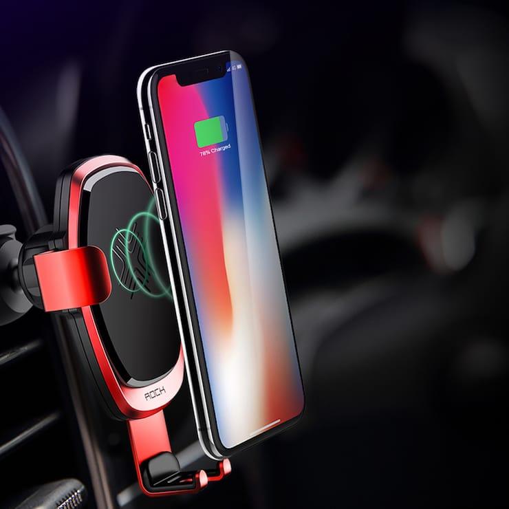 Автомобильные беспроводные зарядкидляiPhone X, iPhone 8 и iPhone 8 Plus