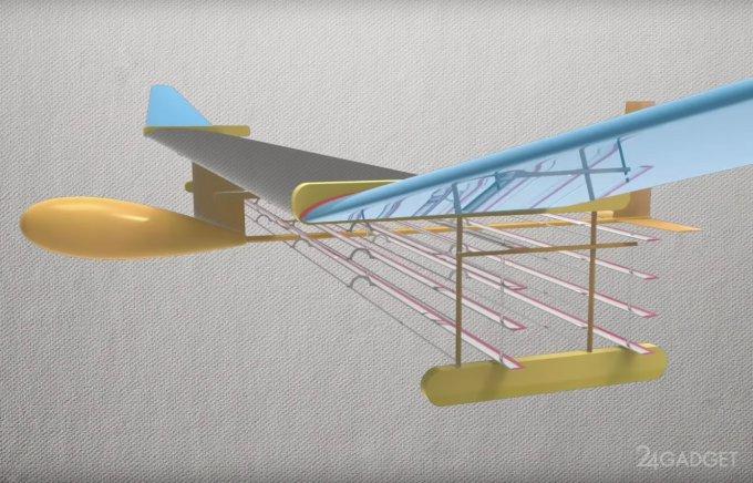 Испытан самолёт, летающий без подвижных частей (3 фото + видео)