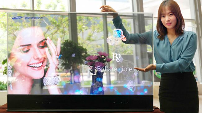 Прозрачный телевизор Samsung