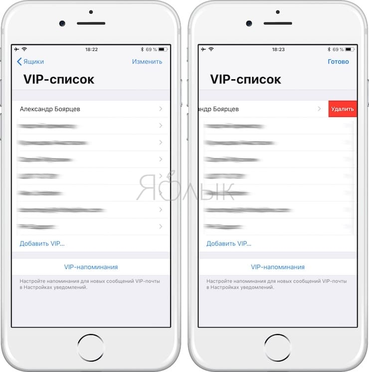 Как снять VIP-статус контакта на iPhone или iPad