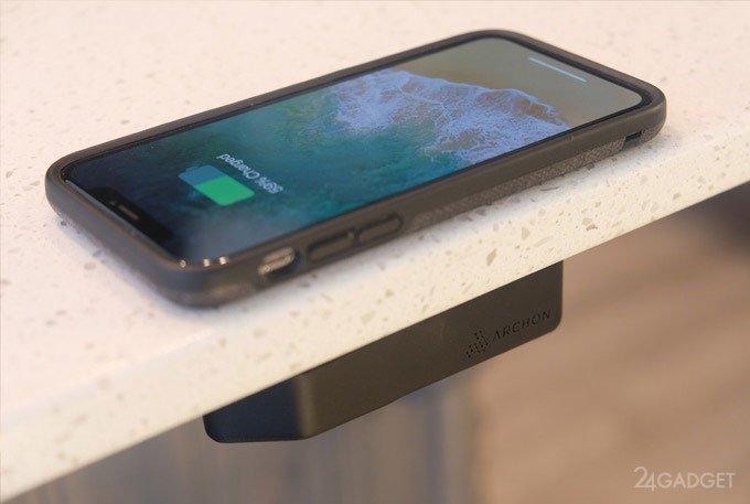 Беспроводное зарядное устройство, скрытое от глаз (7 фото + видео)