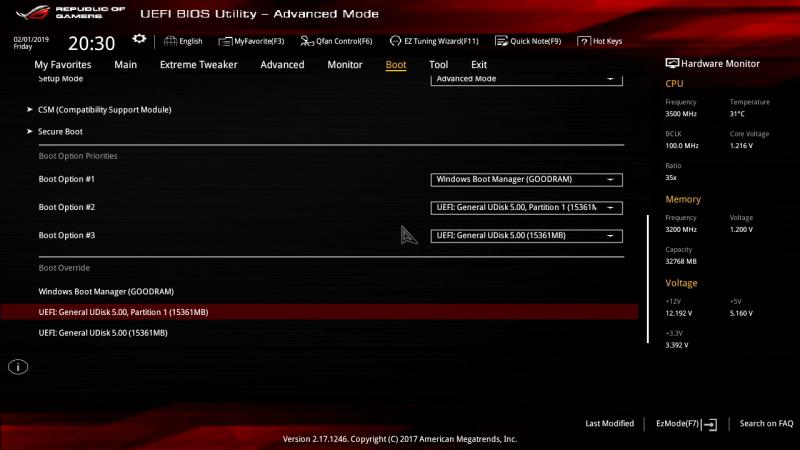 UEFI-режим: доступны только EFI-загрузчики