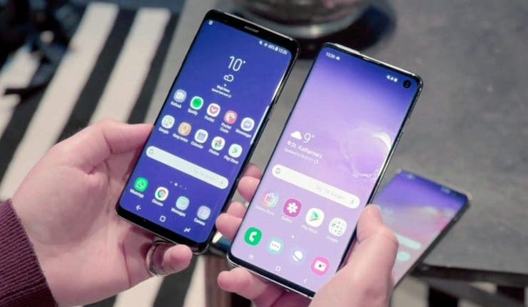 Сравнение Samsung Galaxy S10 и Galaxy S9