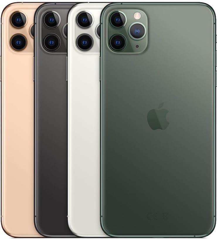 Цвета iPhone 11 Pro и iPhone 11 Pro Max