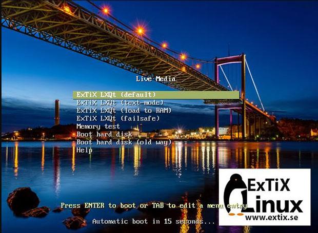 ExTix Linux сохраняет живую среду сеанса после установки.