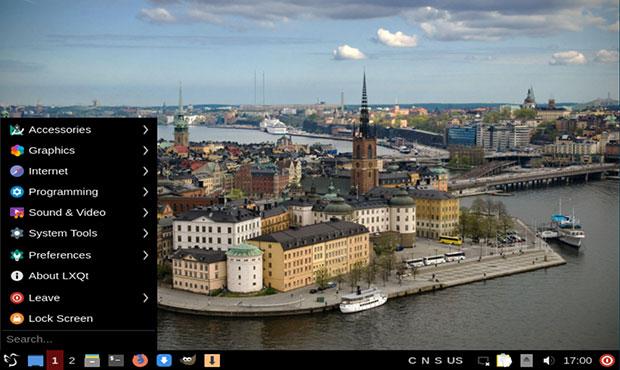 Меню Extix Linux 19.10