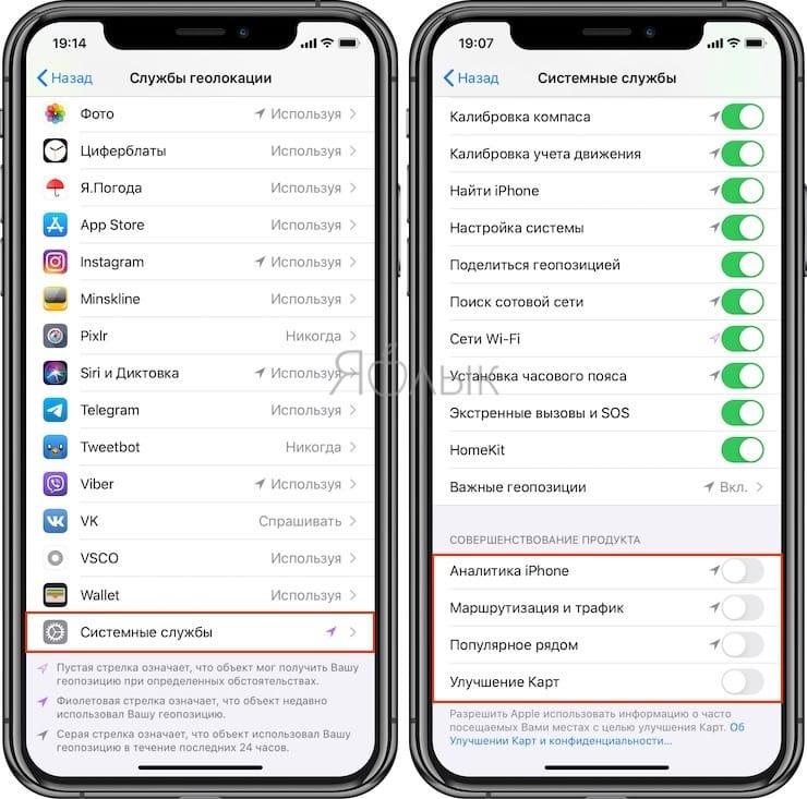 Улучшение сервисов Apple