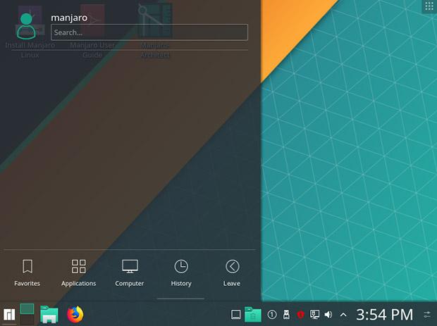 Скриншот издания Manjaro-KDE