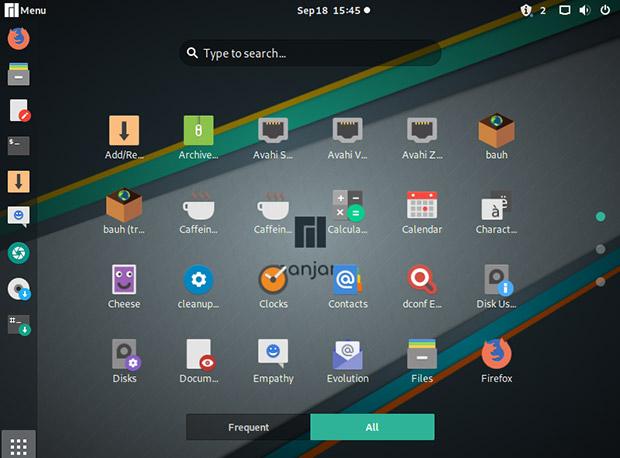 Скриншот рабочего стола Manjaro-GNOME 3