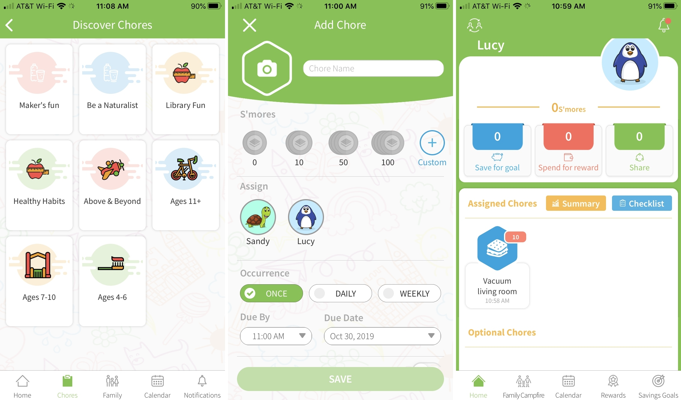 SmoresUp-iPhone-chore-app