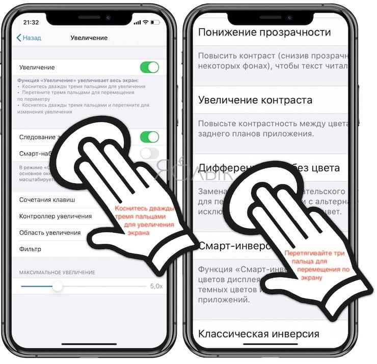 Как увеличить экран на iPhone