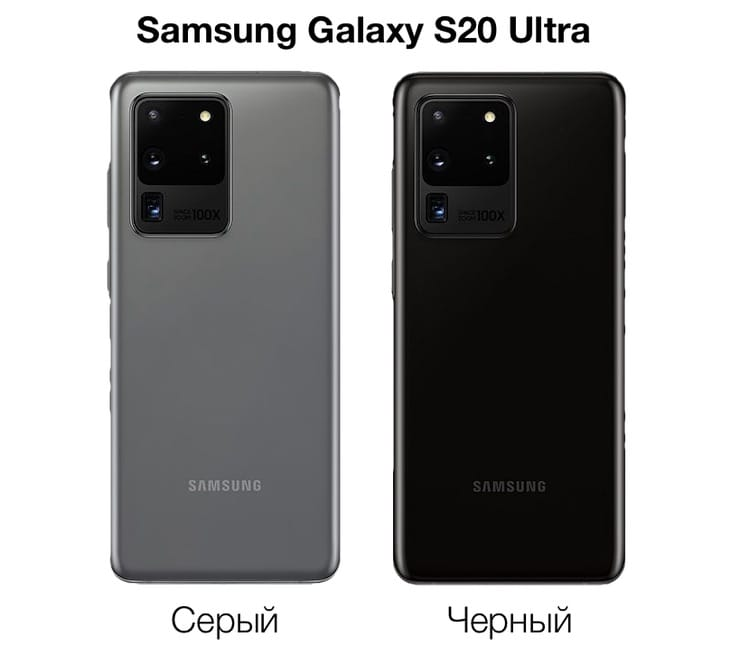 Цвета Samsung Galaxy S20 Ultra