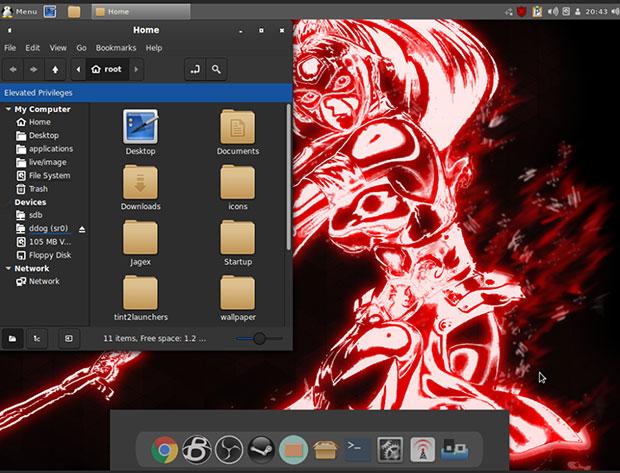 Корневой экран Simplicity Linux