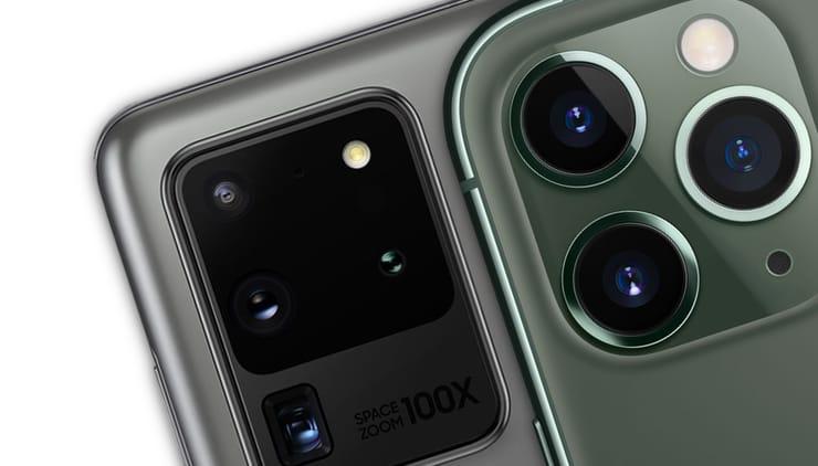 Сравнение iPhone 11 Pro Max и Samsung Galaxy S20 Ultra