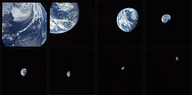 Впервые люди увидели нашу родную планету Земля из глубокого космоса с Аполлона 8, ноябрь 1968 г.