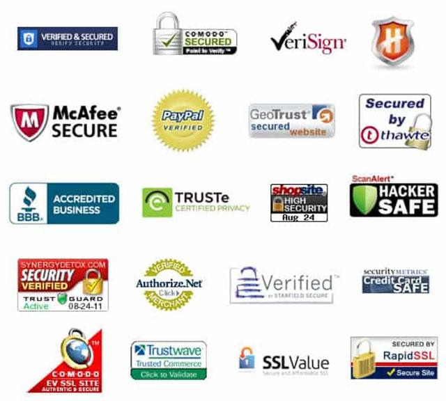 защищенные платежные системы доверяют значкам