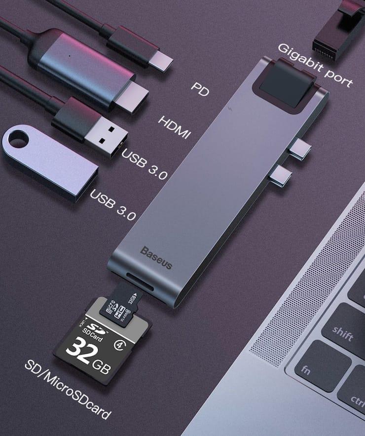 USB-хаб для MacBook 7-в-1 Baseus