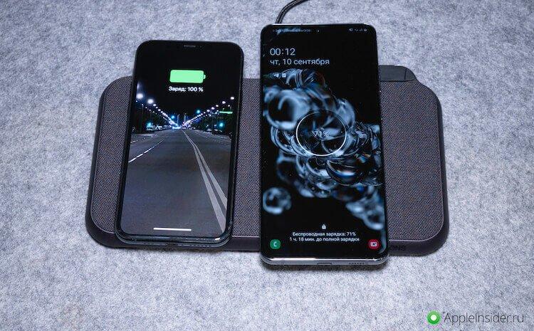 Зарядка двух телефонов