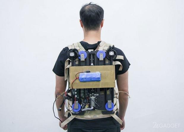 Инерционный рюкзак облегчает усилия при переносе груза на 11%