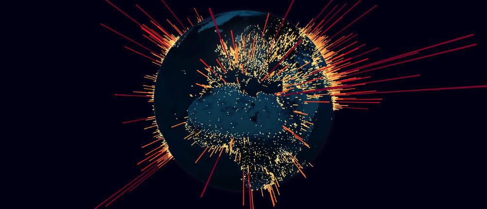 Карта мира DDoS-ботнета