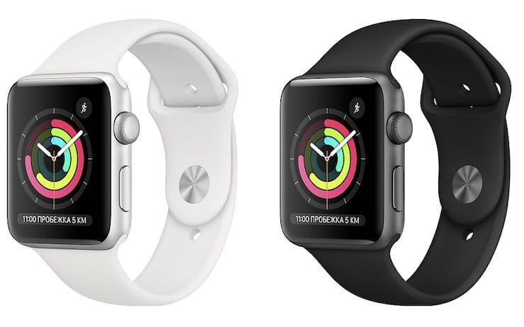 Цвета Apple Watch Series 3