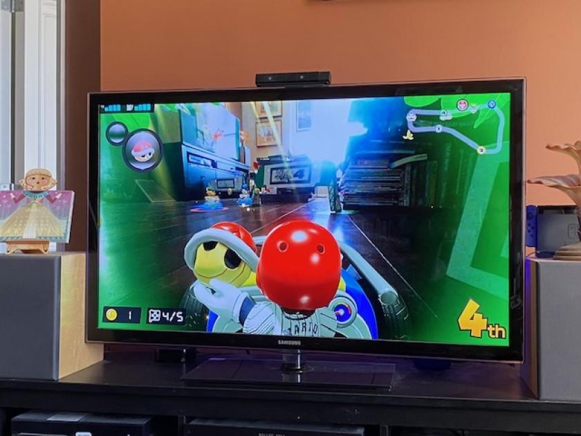 """Посмотрите, как """"Mario Kart Live: Home Circuit"""" меняет внешний вид моей квартиры. """"Width ="""" 840 """"height ="""" 630 """"/>   <div class="""