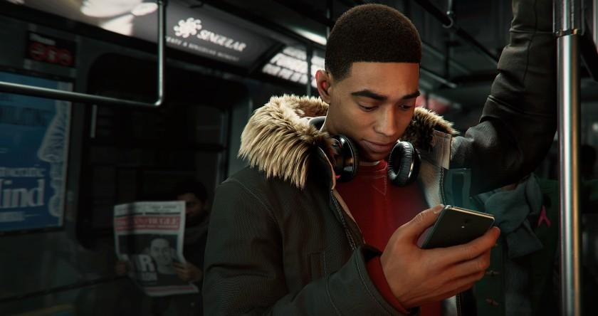 """In """"Spider -Человек: Майлз Моралес, """"главный герой напрямую общается с жителями Нью-Йорка через приложение."""" Width = """"840"""" height = """"444"""" />   <div class="""