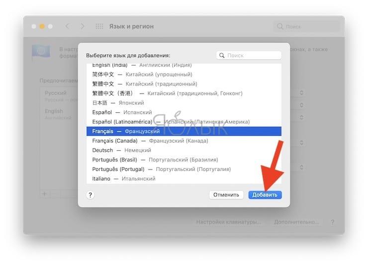 Как добавить новые языки в переводчик в Safari на macOS Big Sur