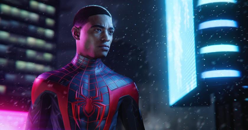 """Майлз Моралес в роли Человека-паука в новой игре для консолей Sony PlayStation. """"Width ="""" 840 """"height ="""" 442 """"/>   <div class="""