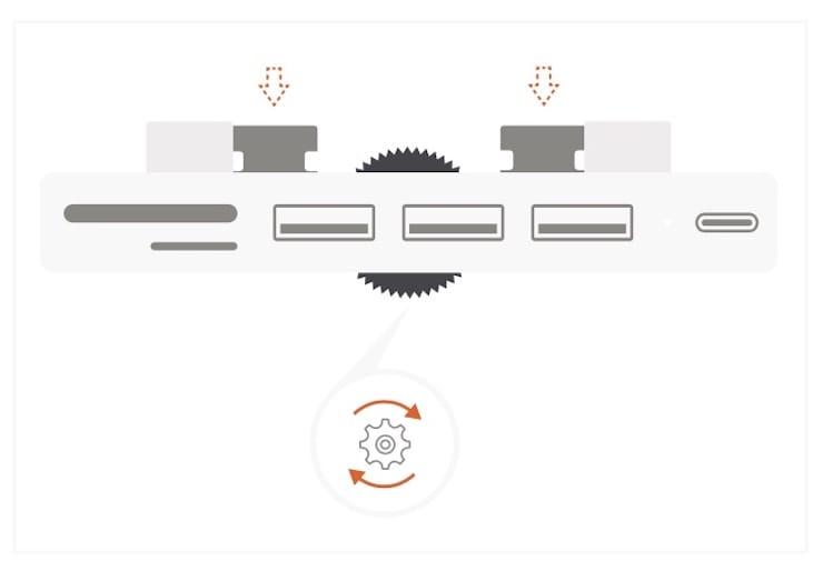Как пользоваться Satechi Type-C Clamp Hub Pro