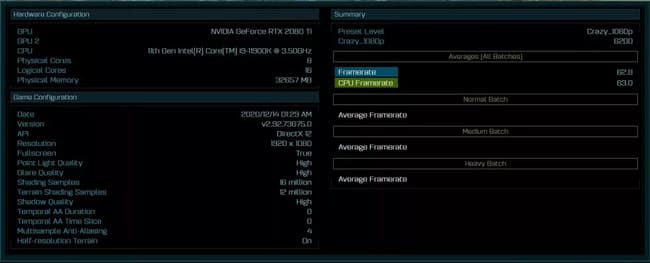 Ashes of the Singularity - Результаты Core i9-11900K