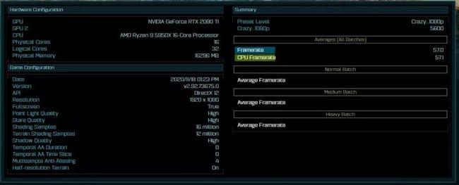 Ashes of the Singularity - Результаты AMD Ryzen 9 5950X