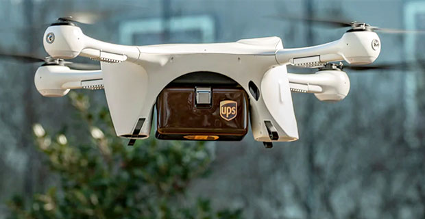 Доставка дронов UPS